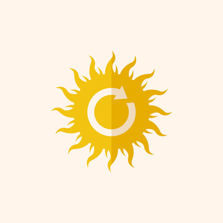 Solar Energy. Ecology Icon. Flat Design. Vector EPS 10.