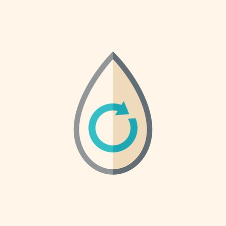 Water. Ecology Icon. Flat Design. Vector EPS 10.
