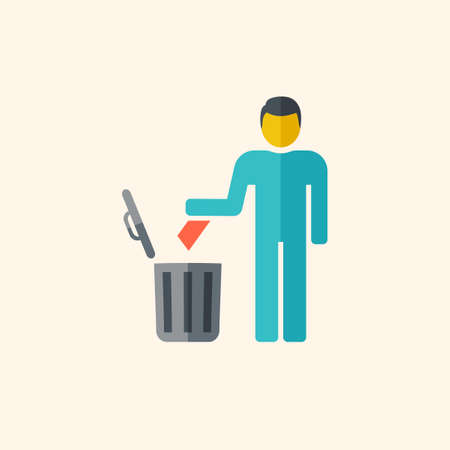 disposal: Garbage Disposal. Ecology Icon. Flat Design. Vector EPS 10. Illustration