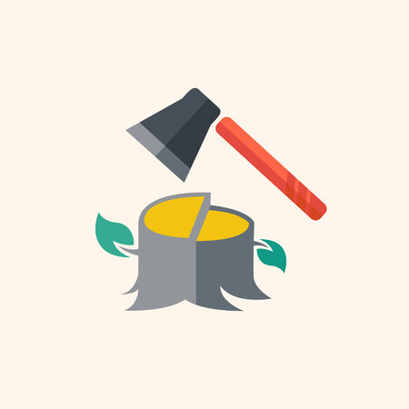 Forestry. Ecology Icon. Flat Design. Vector EPS 10. Ilustrace