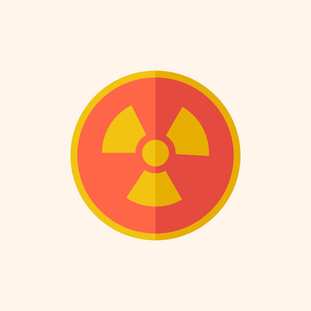 Nuclear. Ecology Icon. Flat Design. Vector EPS 10.