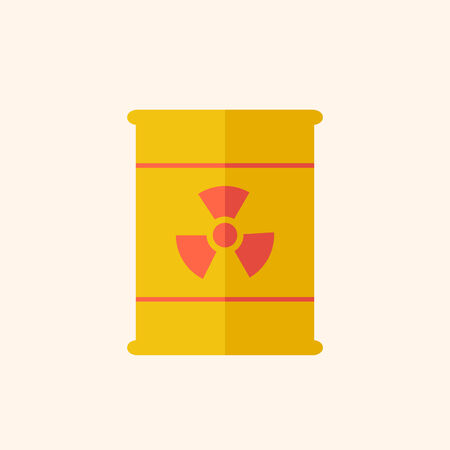 radioactive sign: Nuclear. Ecology Icon. Flat Design. Vector EPS 10.