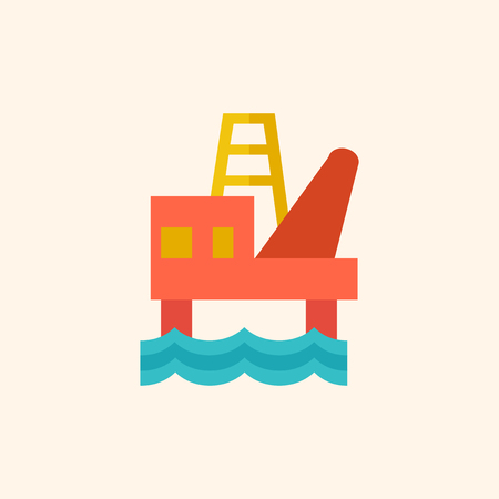 fossil fuel: Fossil Fuel. Ecology Icon. Flat Design. Vector EPS 10. Illustration