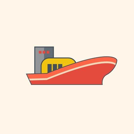 Ship. Ecology Icon. Flat Design. Vector EPS 10.