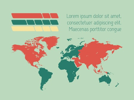 Infographic Element Map. Opportunity to Highlight Any Country. Vector. Vector
