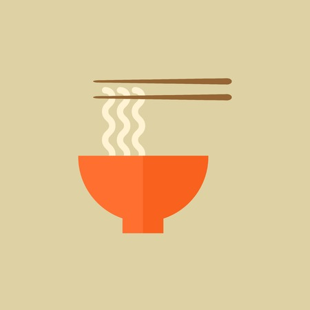 Noodles. Food Flat Icon.