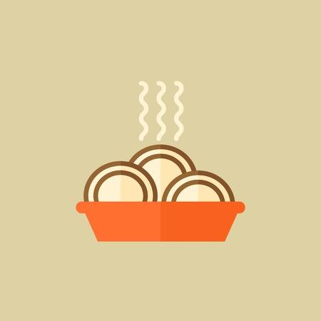Food Flat Icon. Illusztráció