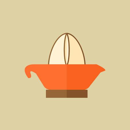Juiser. Food Flat Icon. Vector EPS 10. Illusztráció