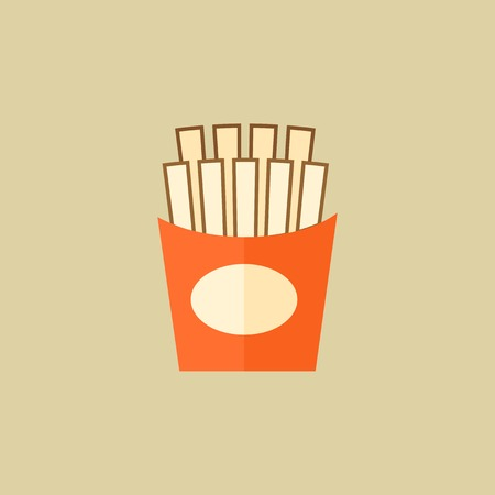 French Fries. Food Flat Icon