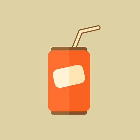 Pop. Food Flat Icon. Ilustracja