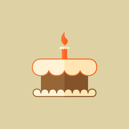Cake. Food Flat Icon.