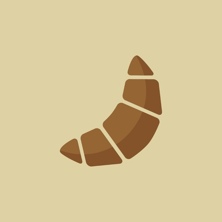 buttery: Croissant. Food Flat Icon.