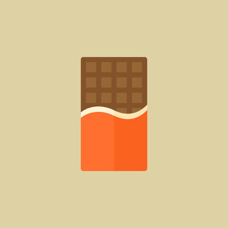 Chocolate. Food Flat Icon.