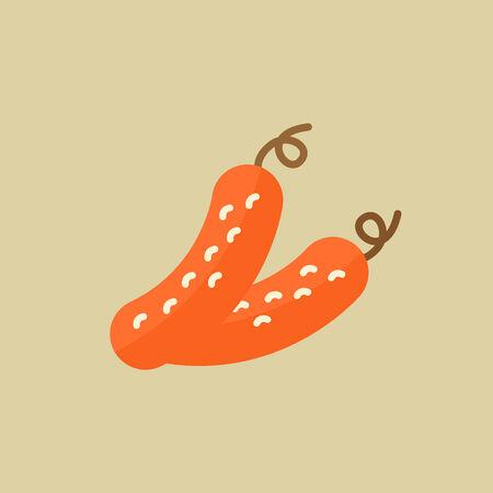 Cucumber. Food Flat Icon. Vector EPS 10. Ilustração