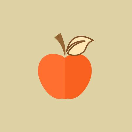 Apple. Food Flat Icon.