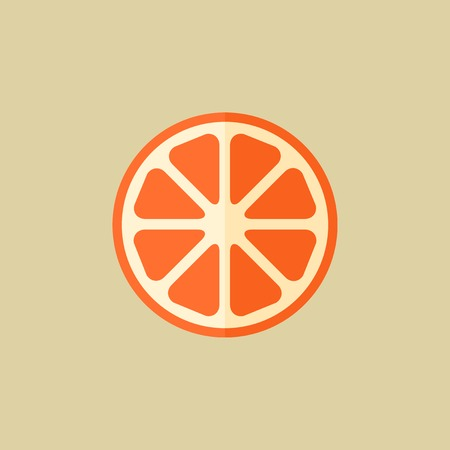 Orange. Food Flat Icon.