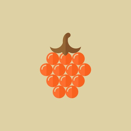 Grapes. Food Flat Icon. Vector EPS 10.