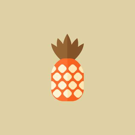 Pineapple. Food Flat Icon. Vector EPS 10. Ilustrace