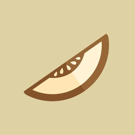 Melon. Food Flat Icon. Vector EPS 10.
