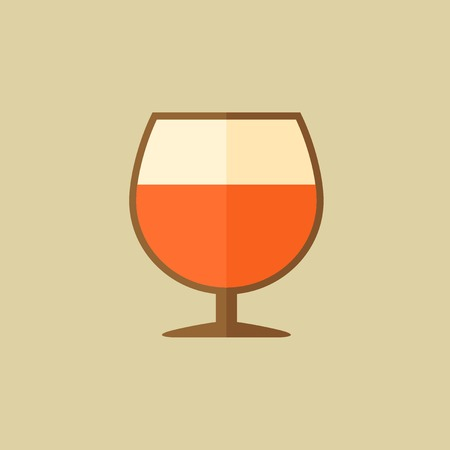 cognac: Cognac. Food Flat Icon. Vector EPS 10.