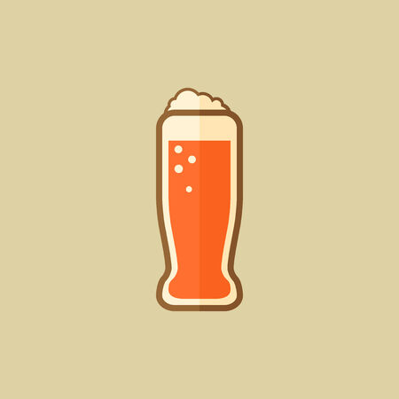 Beer. Food Flat Icon. Vector EPS 10.