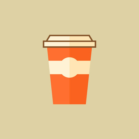 Coffee. Drink Flat Icon.
