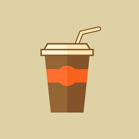 Cocktail. Drink Flat Icon. Vector EPS 10.