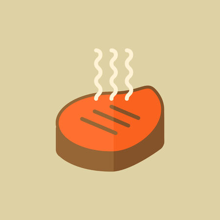 Meat. Food Flat Icon. Vector EPS 10. Illustration