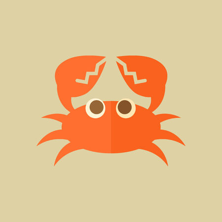 Crab. Food Flat Icon. Vector EPS 10.