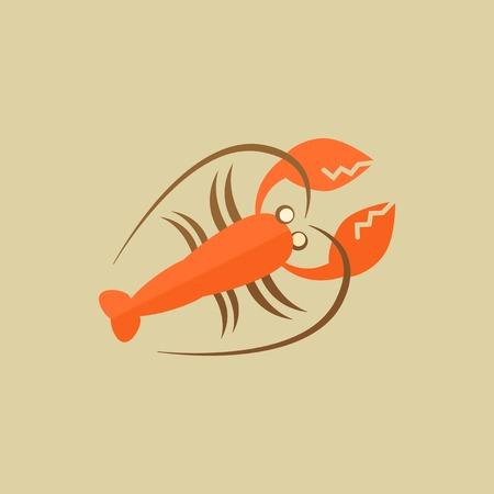 Aragosta. Il cibo piatto Icon. Vector EPS 10. Archivio Fotografico - 31795013