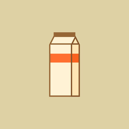 Milk. Food Flat Icon. Vector EPS 10.