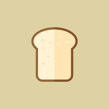 Bread. Food Flat Icon. Vector EPS 10.