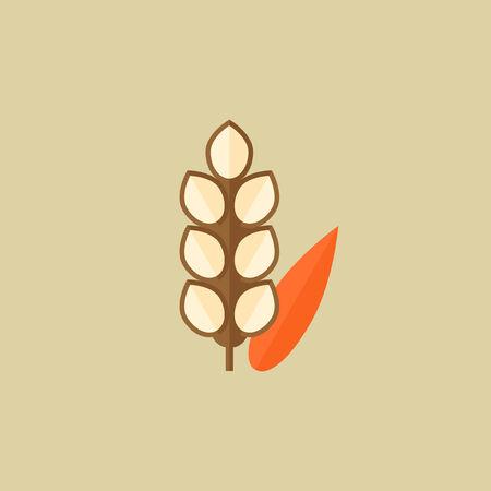 grain: Grain. Food Flat Icon. Vector EPS 10.