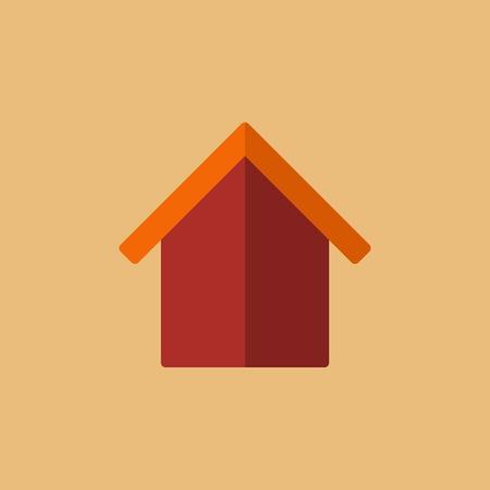 e commerce: Real Estate Flat Icon. Vector. Illustration