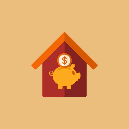 Real Estate Flat Icon. Vector. Ilustrace