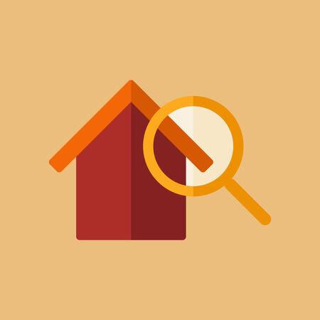 listing: Real Estate Flat Icon. Vector. Illustration
