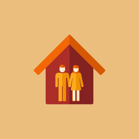 matrimonial: Real Estate Flat Icon. Vector. Illustration