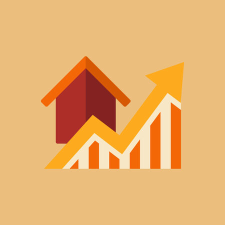 fluctuate: Real Estate Flat Icon. Vector. Illustration