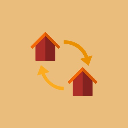 home icon: Real Estate Flat Icon. Vector. Illustration