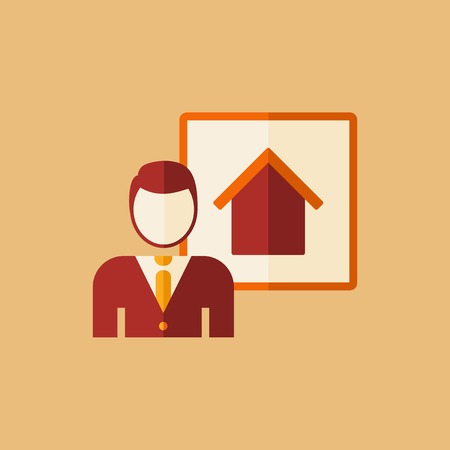 Real Estate Flat Icon. Vector. Ilustrace