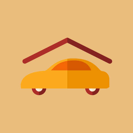 undercover: Real Estate Icon Flat. Vector.