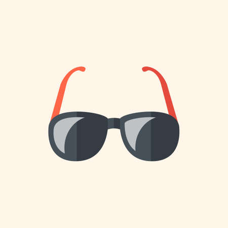 med: Glasses. Travel Flat Icon with Shadow. Vector Pictogram. Illustration