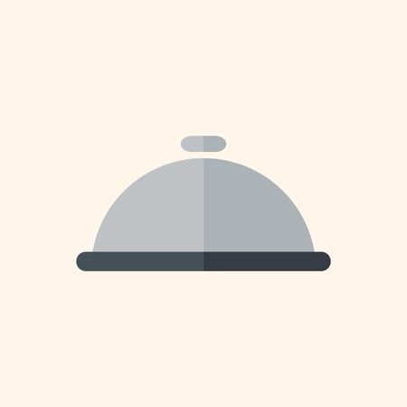 Dinner. Travel Flat Icon with Shadow. Vector Pictogram. Иллюстрация