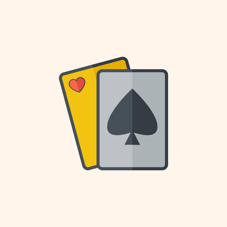 Casino Flat Icon with Shadow. Vector Pictogram. Иллюстрация