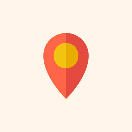 Map. Travel Flat Icon with Shadow. Vector Pictogram. Иллюстрация