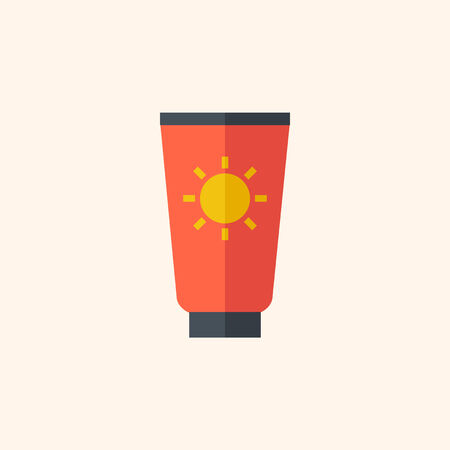 rayos uv: Icono de Viajes plana con Shadow. Vector del pictograma.