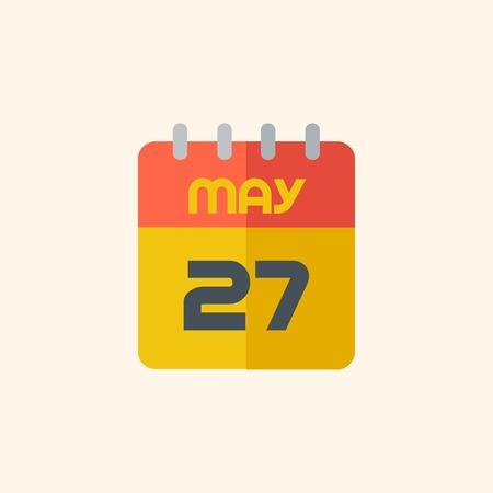 Kalender. Reizen Flat icoon met Shadow. Vector Pictogram.