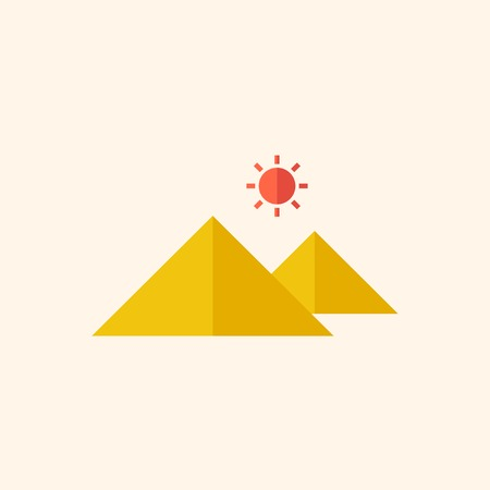 med: Attraction. Travel Flat Icon with Shadow. Vector Pictogram.