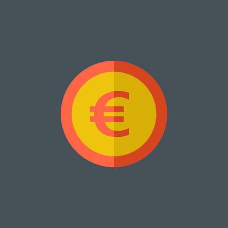 Euro Flat Icoon. Vector Graphics.