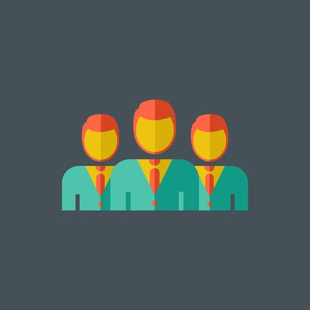 Team Technology Flat Icon. Graphics.